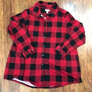 D & Co red flannel
